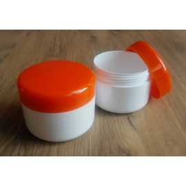 Kosmetická dóza - oranžové víčko 100ml