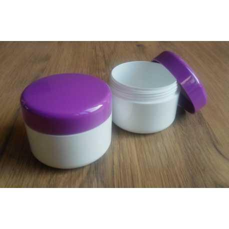 Kosmetická dóza - fialové víčko 100ml