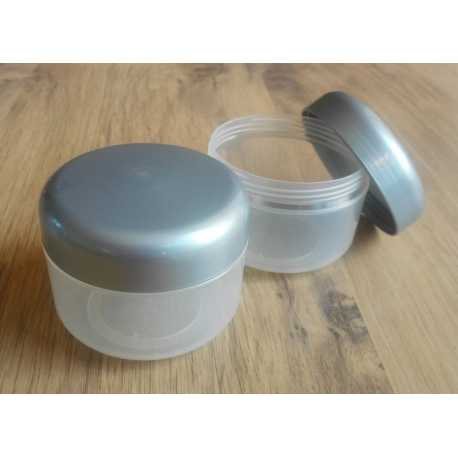 Kosmetická dóza - stříbrné víčko 150ml