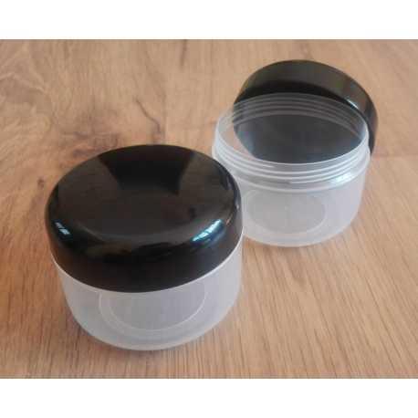 Kosmetická dóza - černé víčko 150ml