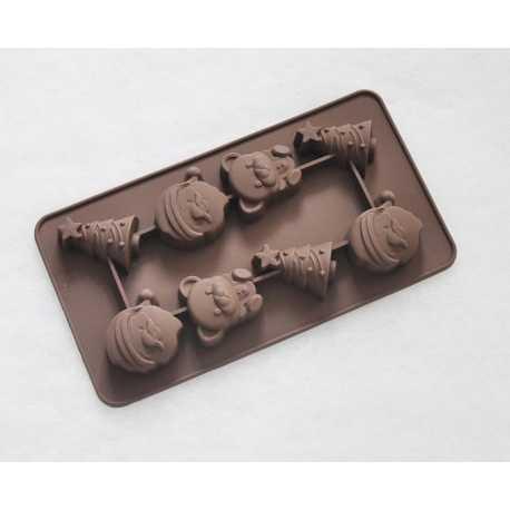 Silikonová forma na mýdlo vánoční mix II. - 8 ks