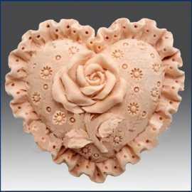 Silikonová forma na mýdlo srdíčko z madeiry