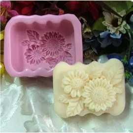 Silikonová forma na mýdlo slunečnice II.