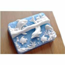 Silikonová forma na mýdlo moře
