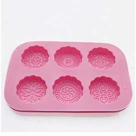 Silikonová forma na mýdlo ornamenty kruhy III. - 6 ks