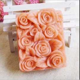 Silikonová forma na mýdlo růžičková vanička II.