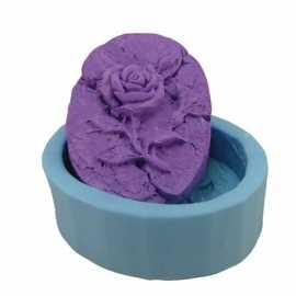 Silikonová forma na mýdlo zkamenělá růže