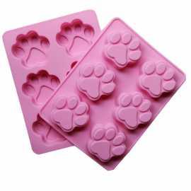 Silikonová forma na mýdlo psí tlapky - 6ks