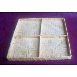 Bambusový tácek čtverec 21x21x2cm