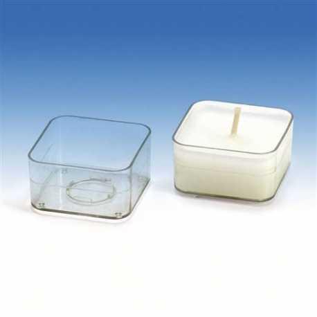 Polykarbonátová forma na čajovou svíčku čtverec