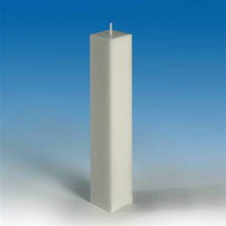 Polykarbonátová forma na svíčku kvádr 3,8x3,8x22cm