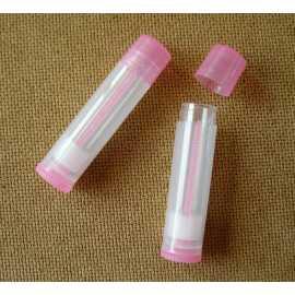 Vysouvací tuba na balzám na rty - transparentní růžová