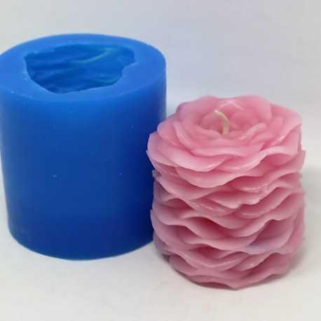Silikonová forma na svíčku květiny růžová