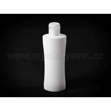 PET láhev 200 ml bílá ovál + odklápěcí uzávěr