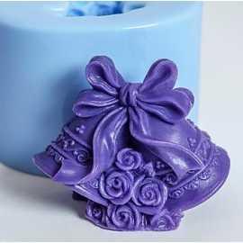 Silikonová forma na mýdlo 3D zvonečky