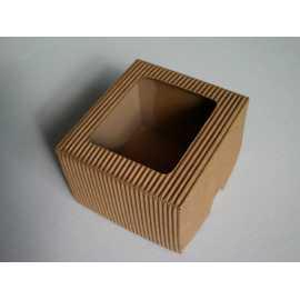 Dárková krabička z vlnité lepenky 9x9x6,5cm