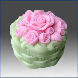 Silikonová forma na mýdlo a svíčku 3D růže VII.