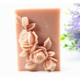 Silikonová forma na mýdlo růže VIII.