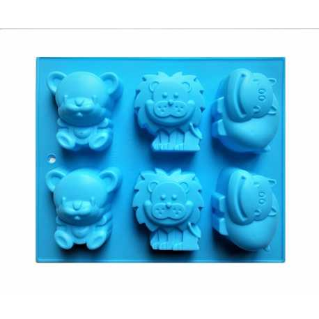 Silikonová forma na mýdlo zvířátka I. - 6 ks