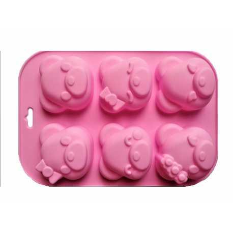 Silikonová forma na mýdlo zvířátka III. - 6 ks