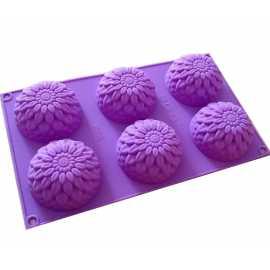 Silikonová forma na mýdlo chryzantémy - 6ks
