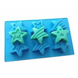 Silikonová forma na mýdlo hvězdy - 6 ks