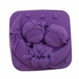 Silikonová forma na mýdlo holčička a chlapeček