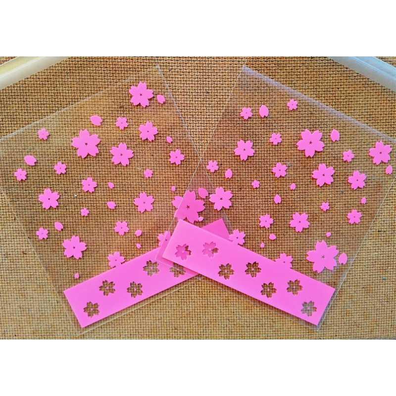 Celofánové sáčky růžové květinky - sada 10ks - Mýdlový svět 2fe3f9090d7