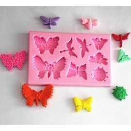 Silikonová miniformička motýlky mix