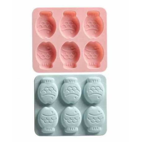 Silikonová forma na mýdlo rybky - 6ks