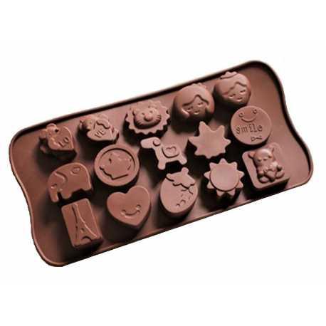 Silikonová forma na mýdlo dětský mix II. - 15 ks