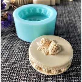 Silikonová forma na mýdlo maliny
