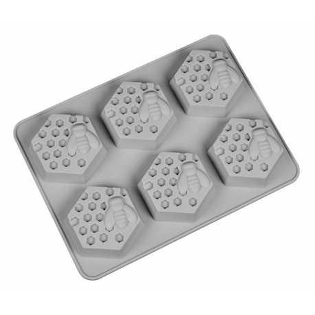 Silikonová forma na mýdlo včely - 6ks