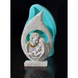 Silikonová forma na mýdlo Svatá rodina 2D