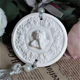 Silikonová forma na závěsnou dekoraci srdce s andělem II.