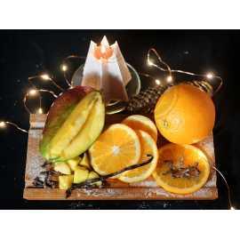 Pomeranč + mango + vanilka + hřebíček - parfémová kompozice 10ml