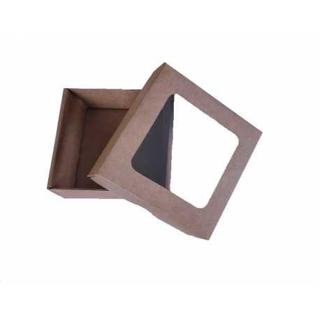 Dárková krabička z hladké lepenky 9x9x3,5cm
