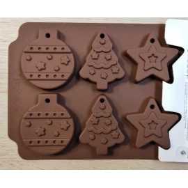Silikonová forma na mýdlo vánoční mix V. - 6ks