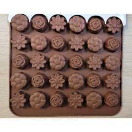 Silikonová forma na mýdlo malé kytičky III. - 15ks