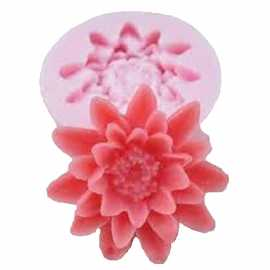 Silikonová miniformička chryzantéma