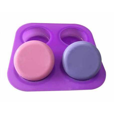 Silikonová forma na mýdlo oblé čtverce - 4 ks