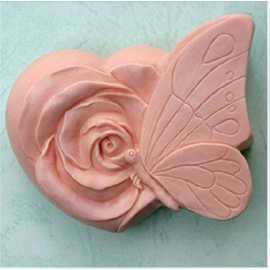 Silikonová forma na mýdlo motýl na růži