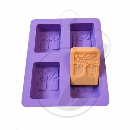 Silikonová forma na mýdlo strom života - 4 ks