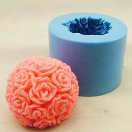 Silikonová forma na svíčku růžičková koule