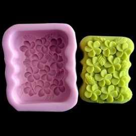Silikonová forma na mýdlo kytičková vanička