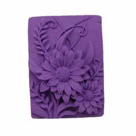 Silikonová forma na mýdlo kopretiny